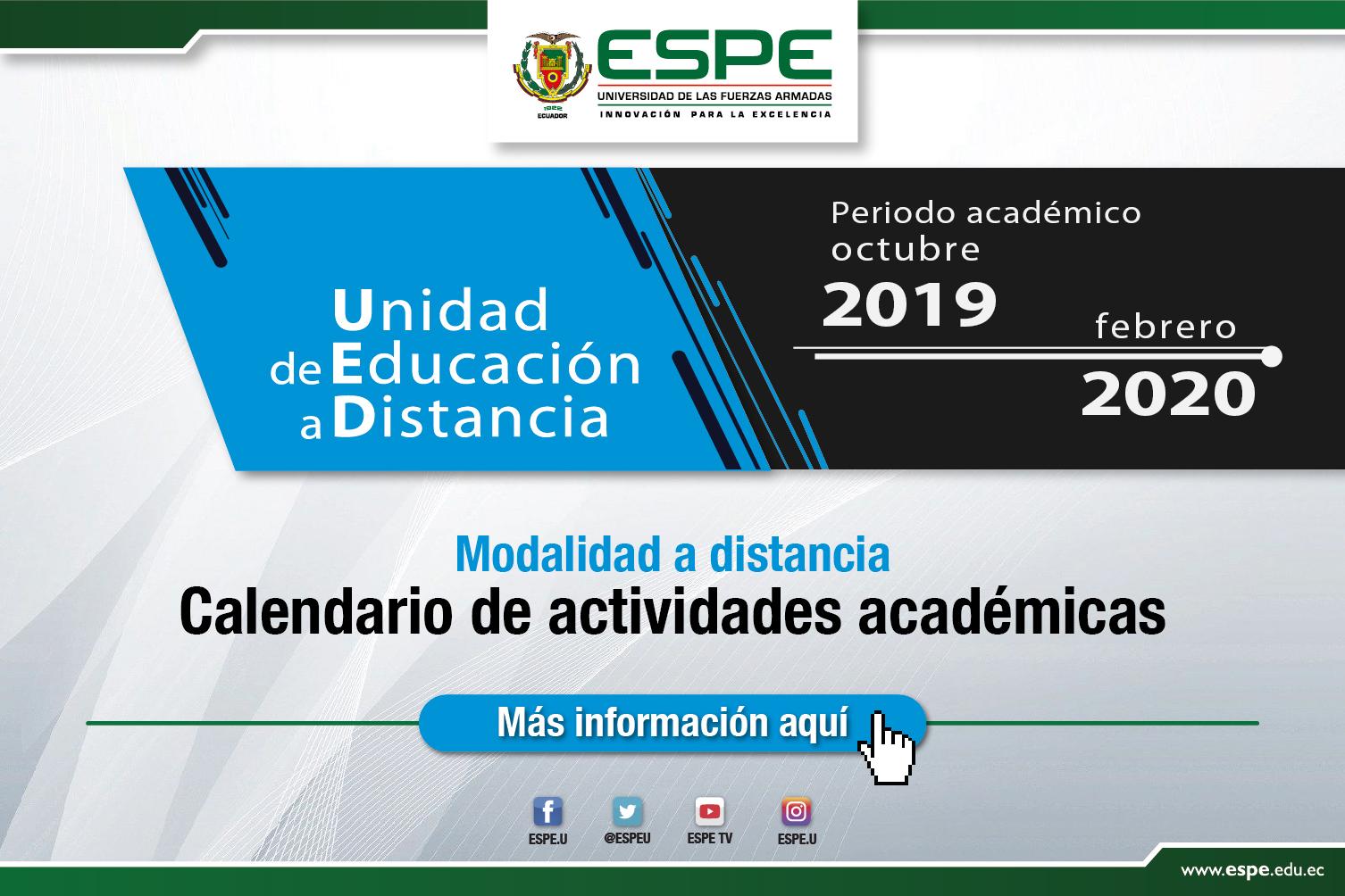 Calendario estudios a distancia