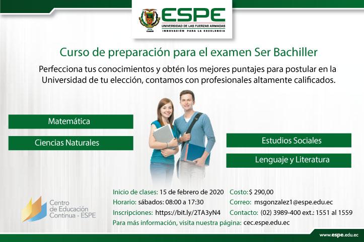 Curso preparatorio examen Ser Bachiller